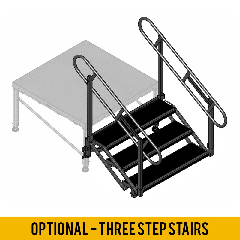 Portable Stage Steps With Handrails : Signature steel portable stage