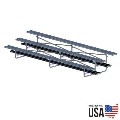 Basic Aluminum Bleachers - Steel Frame