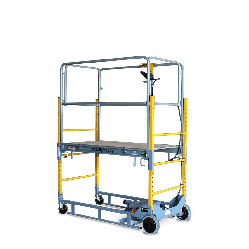 Types Of Portable Scaffolding : Power snappy model m electric work platform