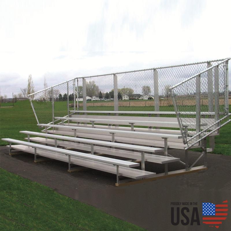 Sportlite Preferred Premium Aluminum Bleachers - 5 Rows, 15 ft