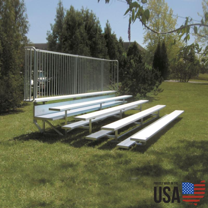 SportLite Aluminum Low-Rise Bleacher Package - 5 Rows, 15 ft