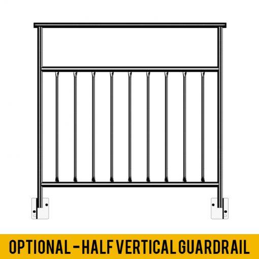 Optional Half Vertical Guardrail
