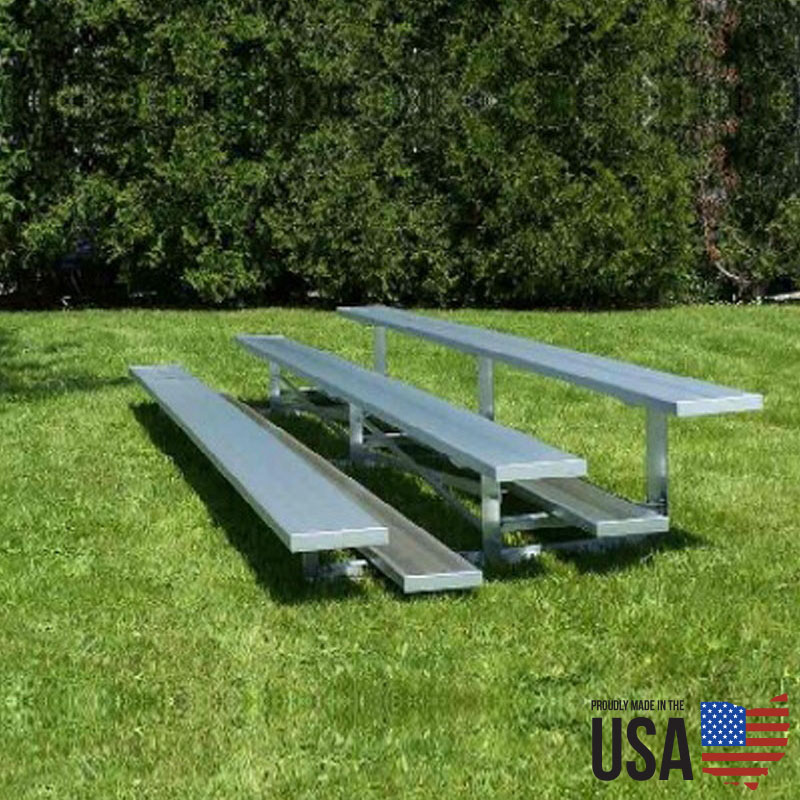 SportLite Aluminum Low-Rise Bleacher Package - 4 Rows, 15 ft