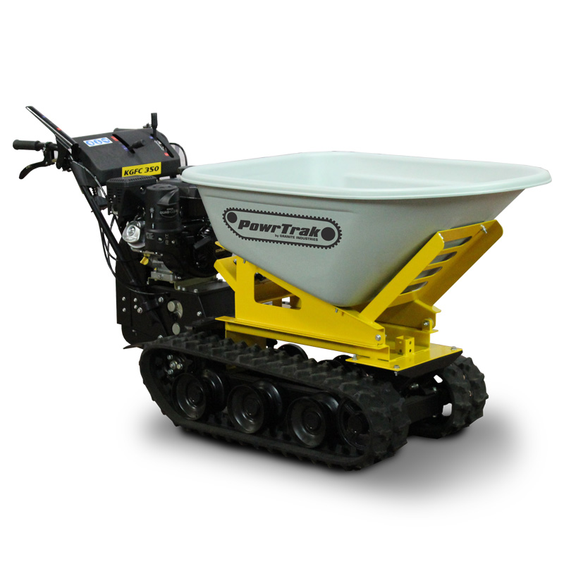 granite powerTrak 750 gas powered wheelbarrow