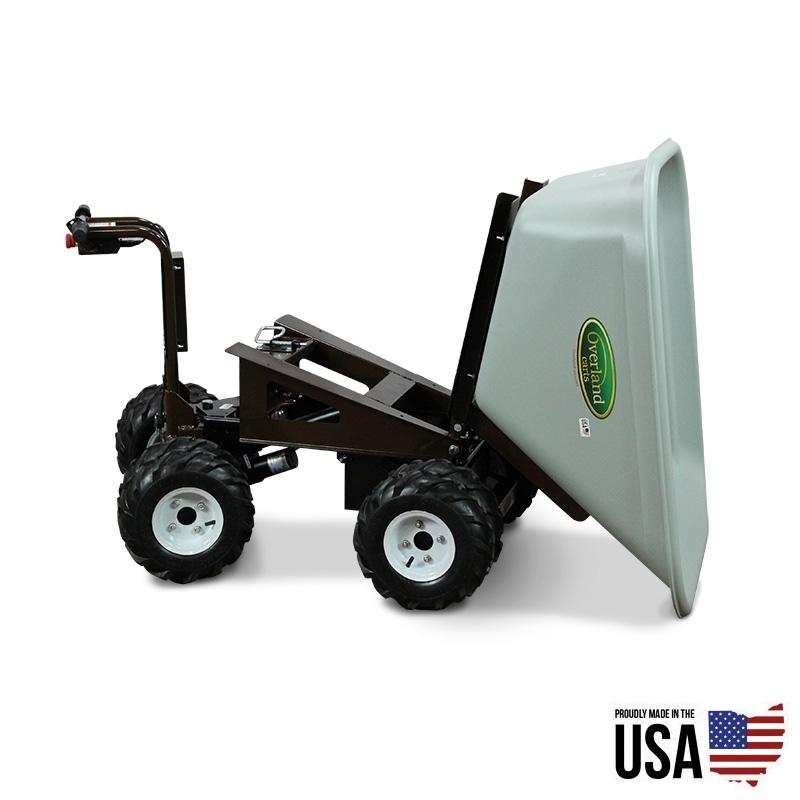 Overland electric powered 10 cu ft wheelbarrow with power for Motorized wheelbarrows for sale
