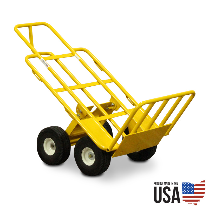 Multi Mover Hand Truck With Fold Down Rear Wheels