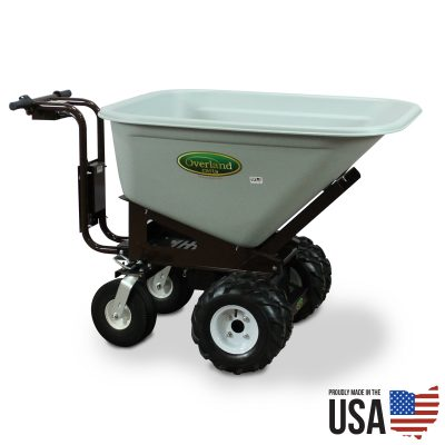Overland Electric Powered Wheelbarrow – 10 Cu. Ft. Hopper