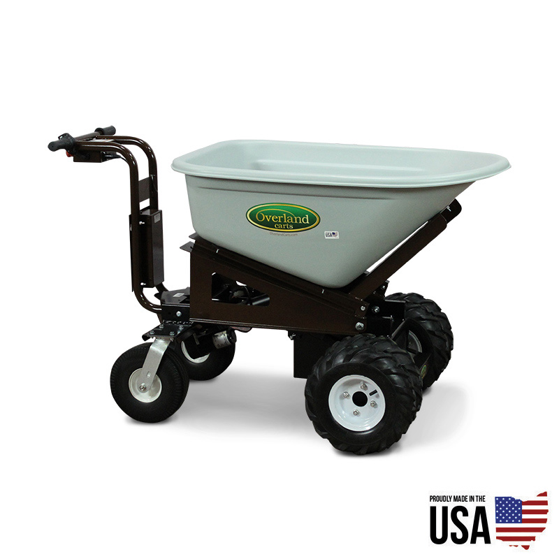 Overland Electric Powered 8 Cu Ft Wheelbarrow With Power Dump