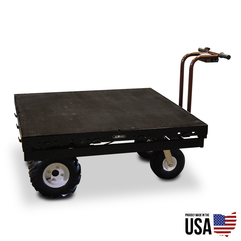 Overland electric powered stage stage platform cart for Motorized hand truck dolly