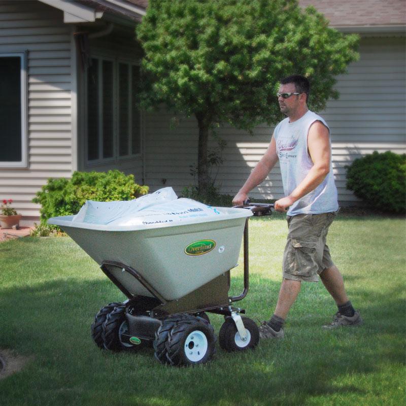 Electric powered wheelbarrow with 10 cu ft hopper for Motorized wheelbarrows for sale